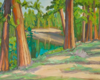 Floating the Morning on the Deschutes River Central Oregon Original Oil Painting