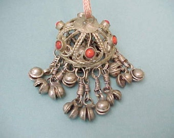 1960's Flower Child Middle Eastern Pendant