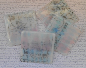 Fused Glass Coasters Vintage Style. Set of four