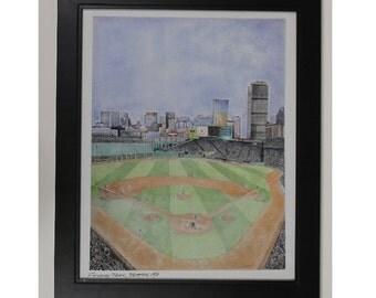 red sox wall decor limited edition Boston Baseball art