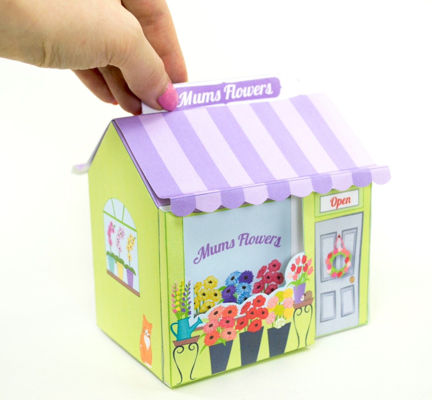 Printable mother s day flower shop gift box for her