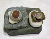 Beautiful Unique! Natural Beach Stone Stack Ocean Rock Cairn Rock Art Stone Sculpture Zen Garden Sculpture Stone Art Meditation Gift Wedding