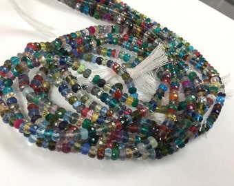 Multi Color Hydro Quartz Rondelles Faceted