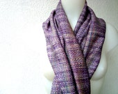 Handwoven Silk Scarf / Shawl / Wrap, Unique scarf, Purple, Hand dyed