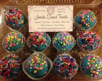 Birthday Cake  Sugar Free Cake Balls Or Cake Pops  Truffle Texture Gift  Box 1 Dozen