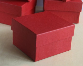 Set of 6, Fancy Red Gift Box, Jewelry Box,