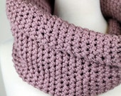 French Rose - Pima Cotton, Chunky Cowl Neckwarmer