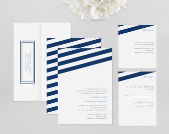 Wedding Invitation Modern Sample - Wind Sail - Wedding Invitation, Modern Wedding Invitation, Modern Wedding Invitations, Wedding Invitation