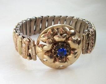 Vintage Sweetheart Expansion Bracelet Vintage Lustern Sterling Silver 12k Gold Filled