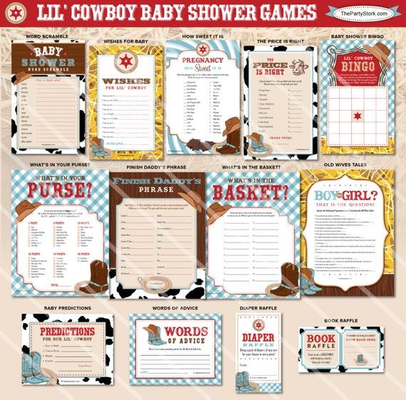 Baby Shower Cowboy Theme: Cowboy Baby Shower Games Western Theme Boy Baby Shower