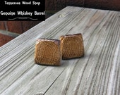 Genuine Whiskey Barrel Wood Cuff Links Handmade