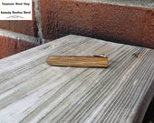 Kentucky Bourbon Barrel Wood Tie Bar Handmade