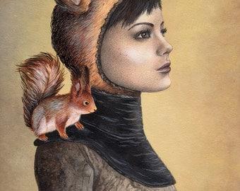 Squirrel Girl ORIGINAL PAINTING