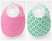 Baby Bibs - Pink Polka Dots