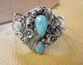 Vintage Native American  Ladies Turquoise Bracelet