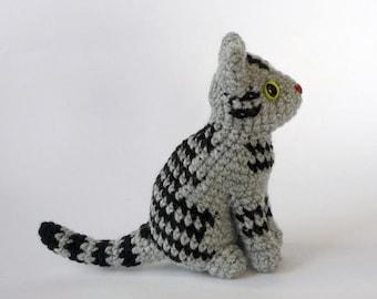 Realistic gray cat amigurumi by LunasCrafts on Etsy