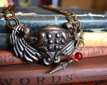 Steampunk Necklace, Drawer Pull Necklace, Upcycled Jewelry, Steampunk Jewelry, Statement Jewelry, OOAK Jewelry, Art Deco Necklace, Womans
