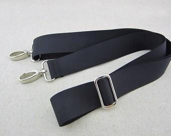 Black Adjustable Crossbody Purse Strap 3.7cm wide