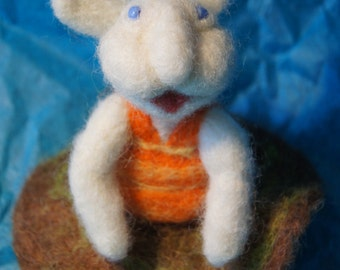 Silly Little Hand Felted Bunny Girl