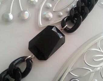 Jet black Swarovski bracelet