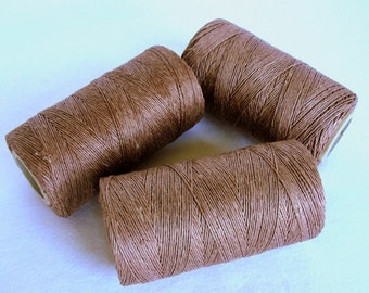 16,5 yards -15 m. MOCCA    waxed  linen   thread, 3-Ply (1mm)
