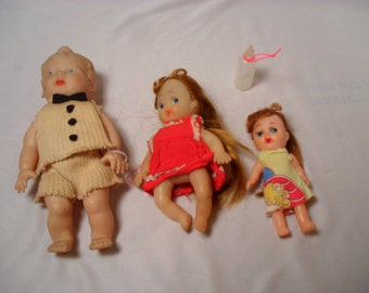 Lot of 3 Vintage Baby Dolls