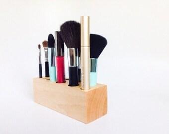 Wooden Vanity Makeup Holder Bridesmaid Gifts