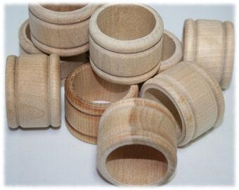 Wood Napkin Ring Holder, Unfinished Wood Napkin Ring Holder, DIY Wooden Napkin Rings, Table Setting Decor