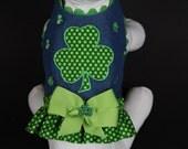 St. Paddy's Shamrock Dog Harness -- Custom, Hand Made