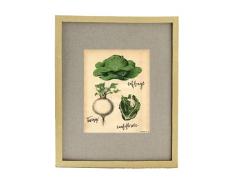Winter Vegetables Kitchen Art Print
