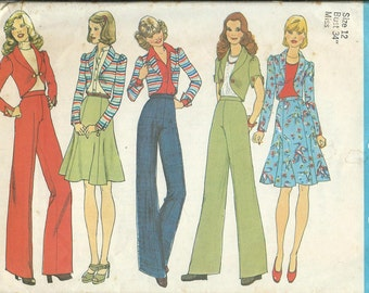 Simplicity 7138 Misses Jacket, Gored Skirt and Wide Leg Pants Pattern, Size 12 UNCUT
