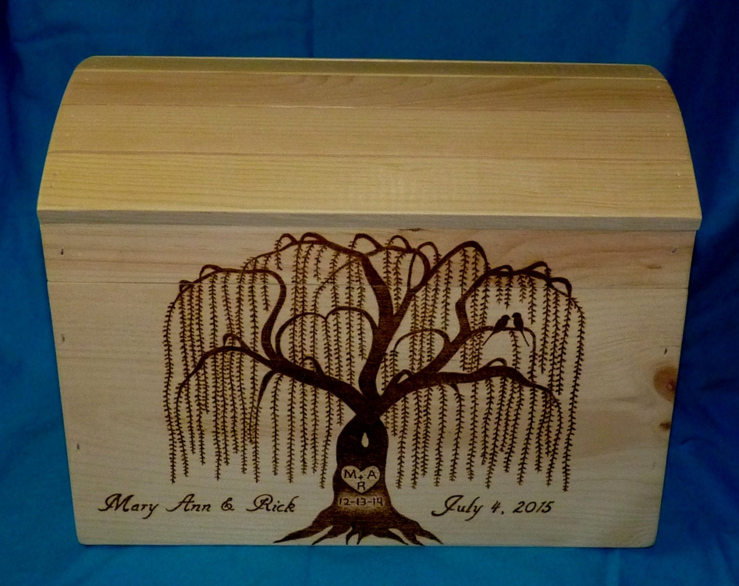 Wedding Guest Box Decorative Wood Burned Wedding Card Box – Large Wedding Card Box