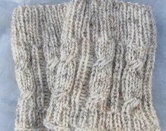 Knit Boot Cuff,  Leg Warmers , Chunky Leg warmers Oatmeal color , wellies boot cuff - raincity boot, Christmas gift (15)