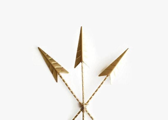 Arrows For Wall Decor : Arrows wall decor gold arrow art painted trendy home