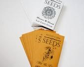 Rustic Wedding Favors, Sunflower Seeds, Seed Packets, Seed Packet Favors, Summer Wedding, Baby Shower Favors, Bridal Shower Favor 13-25 sets