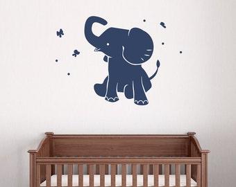 Elephant Wall Decal Etsy