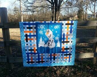 Olaf lap quilt