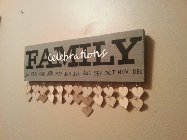 Family Celebrations Plaque Family Celebration Board