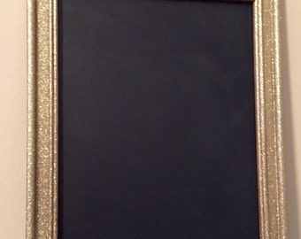 """Gold Glitter Chalkboard 8"""" x 10"""", Perfect for Wedding or Shower Decor"""