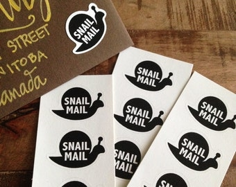9-pack of Snail Mail stickers