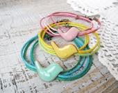 Wrap bracelet, Bird bracelet, for girl, Kids Children's jewelry, Charm Bracelets