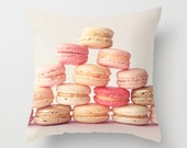 Pillow cover, french decor, girl nursery decor dorm, coral nursery art,spring decor,coral pillow,pink pillow,white pillow,yellow pillow