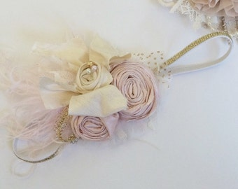 Baby girl Headband- baby headband- flower girl headband- newborn headband-Avry Couture Creations