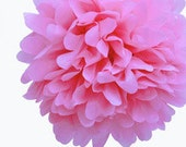 "8"" Light Pink Tissue Paper Pom Poms- Small Paper Flower Pom- Wedding Decoartion- Baby Shower- Bridal Decor- Hanging Room Pom- Valentines Day"