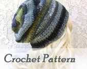 Crocheting pattern Instant Download Crochet Pattern Slouchy Gaming Beanie Mens Hat Beginner Pattern How to crochet slouch hat