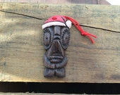 "Holiday Tiki Ornament ""Santa Buma"" Design by Polynesiac Inspired by Andres Bumatay"