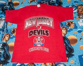 New Jersey DEVILS 1995 Champions Hockey Shirt Size M