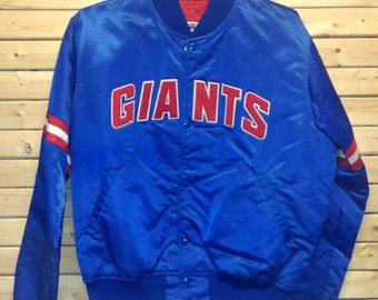Blue New York GIANTS Football Starter Jacket Size L
