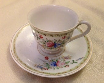 Made in Occupied Japan  demitasse cup and saucer set