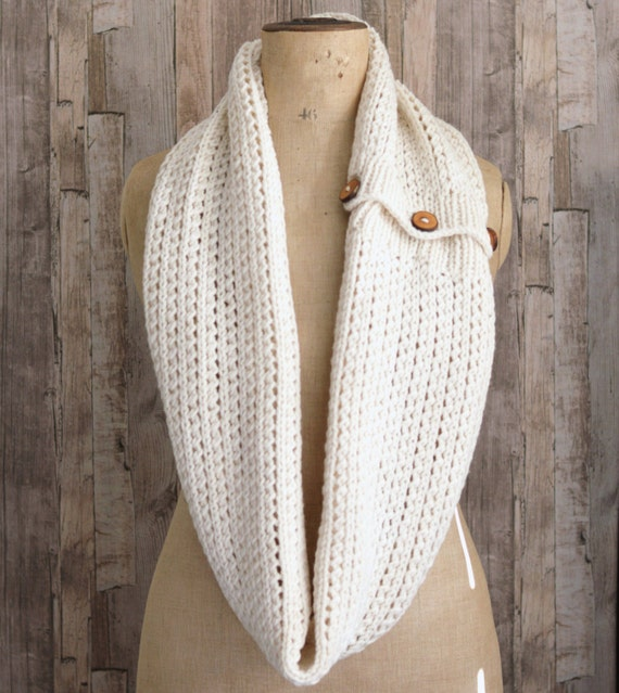 Quick Knit Infinity Scarf Pattern : Very Easy Beginner KNITTING PATTERN Tutorial for Chunky Rib Mesh Infinity Sca...